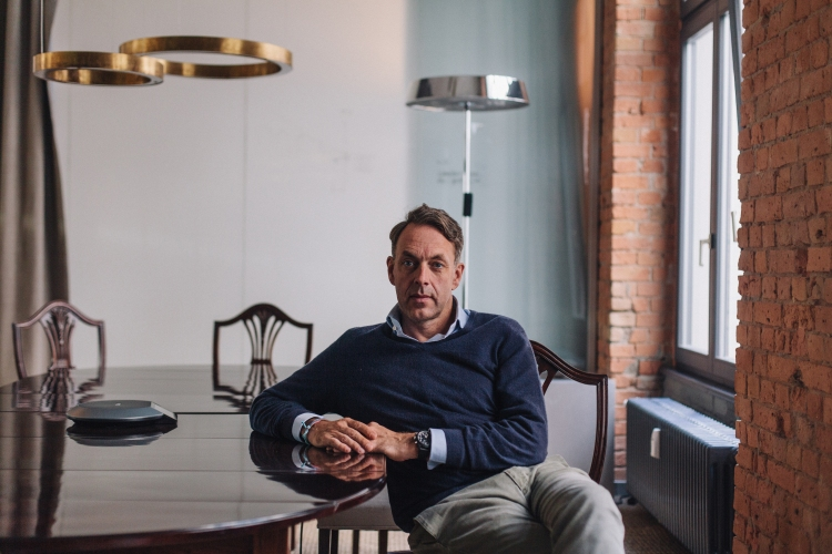 BERLIN, DEU - AUGUST 20, 2015: German Investor Klaus Hommels at the Berlin based office of his company, Lakestar. Hommels has backed many of the world's largest tech companies. CREDIT: Robbie Lawrence for The New York Times